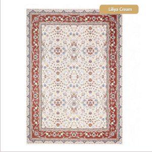 فرش ماشینی۱۲۰۰شانه۳۶۰۰تراکم طرح لیلیا کرم شیراز