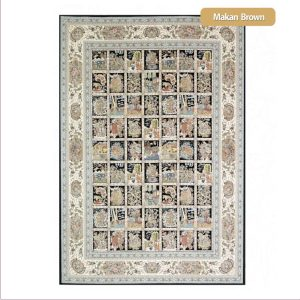 فرش ماشینی۱۲۰۰شانه۳۶۰۰تراکم طرح ماکان شیراز