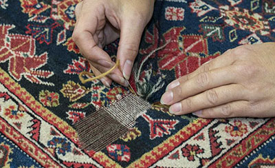 رفوگری و تعمیر انواع سوختگی و پارگی فرش