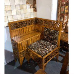 میز و صندل آنتیک چوبی کد ۵۰۳
