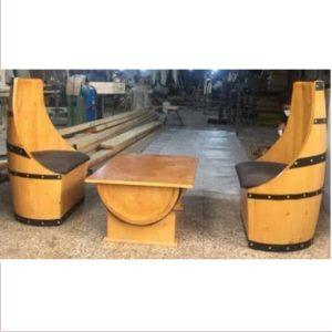 میز و صندل آنتیک چوبی کد ۵۰۲