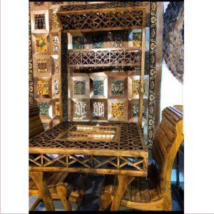 میز و صندل آنتیک چوبی کد ۵۰۰