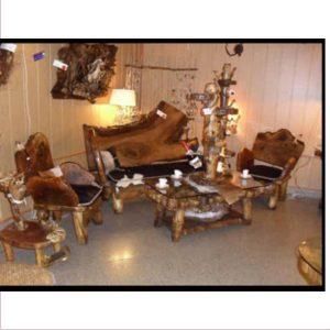 مبلمان و میز آنتیک چوبی کد 513