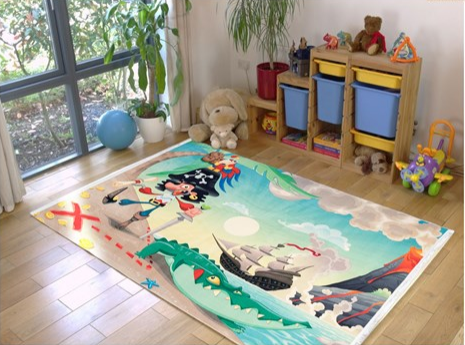فرش کودک طرح کارتون کد 100224
