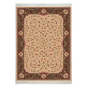 فرش محتشم کلاسیک طرح گل فرنگ