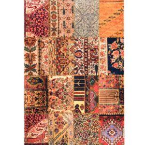 فرش محتشم طرح چهل تیکه کد 100513