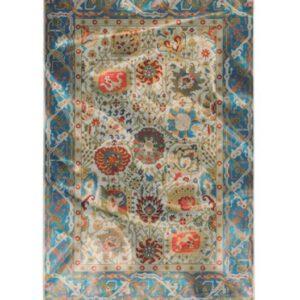 فرش محتشم طرح کهنه نما کد 100636 700 شانه و تراکم 3000 می باشد که الیاف استفاده شده.برای بافت و تولید این فرش الیاف پلی اوژن ( پلی استر فرآوری شده ) می باشد