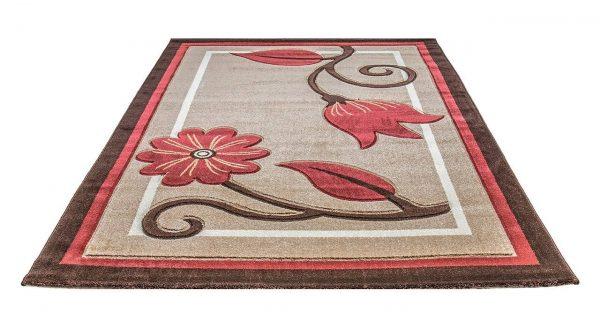 فرش سهند فانتزی زمینه قهوه ای C608