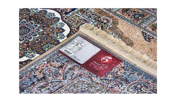 فرش سهند کلاسیک زمینه سرمه ای کد VF14.kK