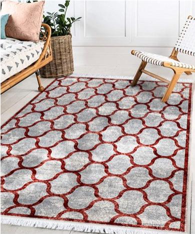 فرش محتشم طرح مدرن  زمینه ابی کد 100473