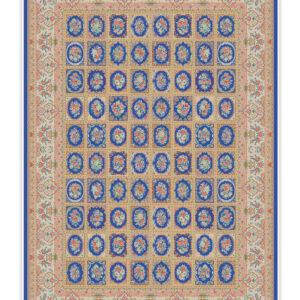 فرش 1500 شانه تمام ابریشم دستکار کد 15003