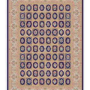 فرش 1500 شانه تمام ابریشم کد 15004