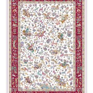 فرش 1500 شانه تمام ابریشم کد 15006