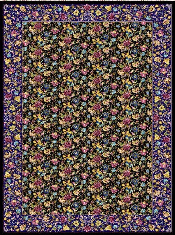 فرش 1600 شانه مشهد اردهال ابریشم کار کد 16046