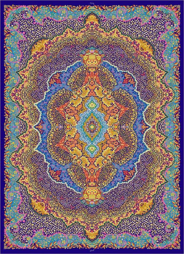 فرش 1600 شانه مشهد اردهال ابریشم کار کد 16048