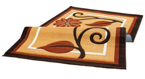 فرش سهند فانتزی زمینه عسلی C608