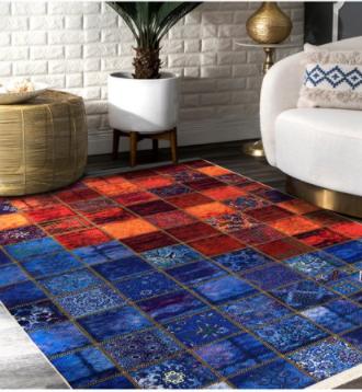 فرش محتشم طرح چهل تیکه کد 100526