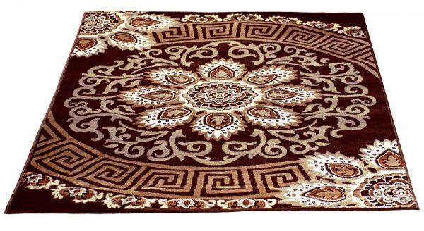 فرش فانتزی زمینه قهوه ای SL27.XI1