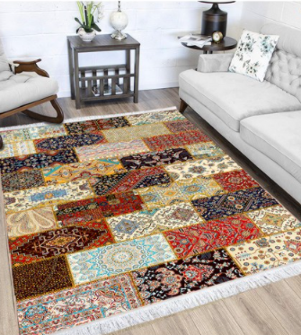 فرش محتشم طرح چهل تیکه کد 100520