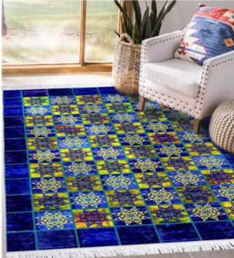 فرش محتشم طرح چهل تیکه کد 100527