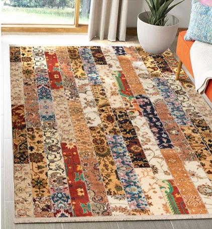 فرش محتشم طرح چهل تیکه کد 100505