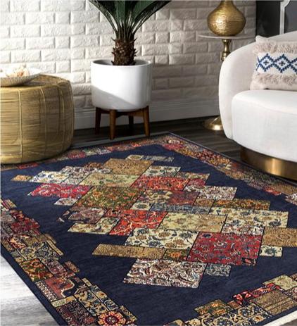 فرش محتشم طرح چهل تیکه کد 100510