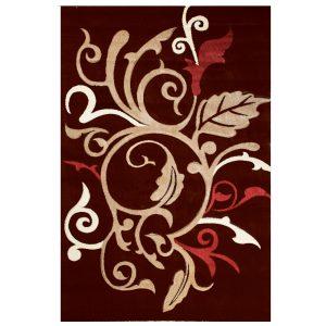 فرش فانتزی زمینه قهوه ای C016