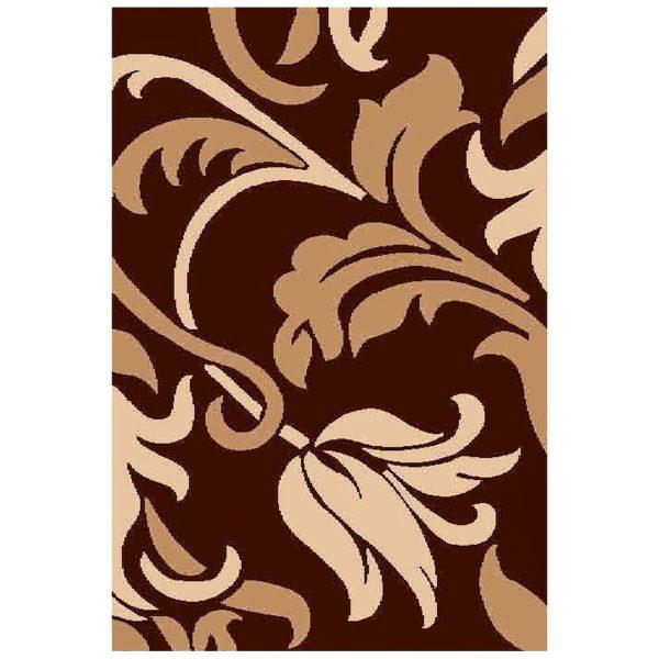 فرش ماشینی سهند طرح فانتزی زمینه قهوه ای کد C721XO