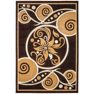 فرش فانتزی زمینه قهوه ای F060