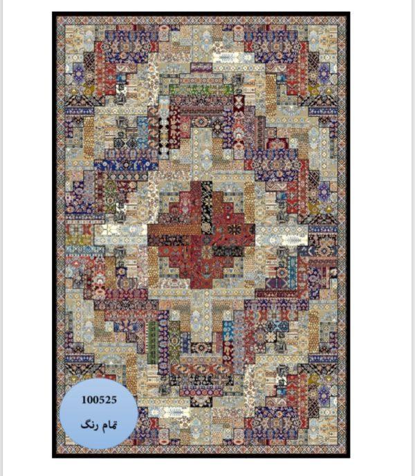 فرش محتشم طرح چهل تیکه کد 100525
