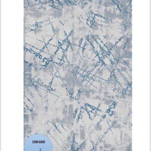 فرش محتشم طرح مدرن زمینه ابی کد 100480