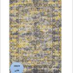 فرش محتشم طرح کهنه نما زمینه طلایی کد ۱۰۰۶۳۹