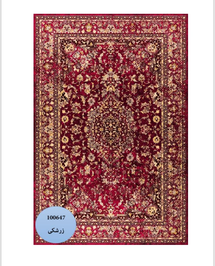 فرش محتشم طرح کهنه نما زمینه زرشکی کد ۱۰۰۶۴۷