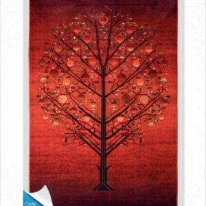 فرش محتشم طرح سنتی کد 100306قرمز