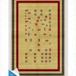 فرش محتشم طرح سنتی کد 100320
