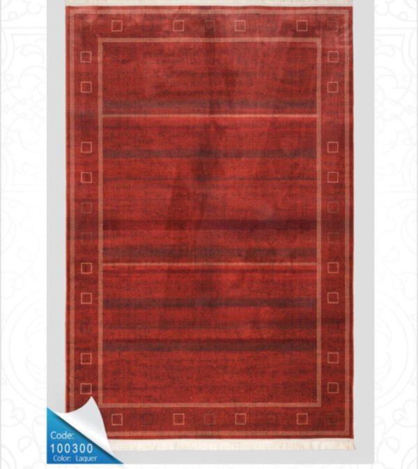 فرش محتشم طرح سنتی کد 100300زرشکی