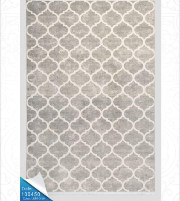 فرش محتشم طرح مدرن سفیدکد 100450