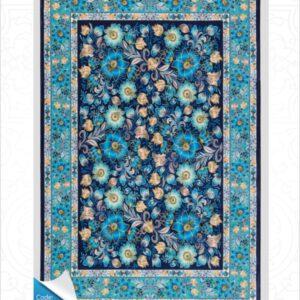 فرش محتشم طرح مدرن سرمه ای کد 100424