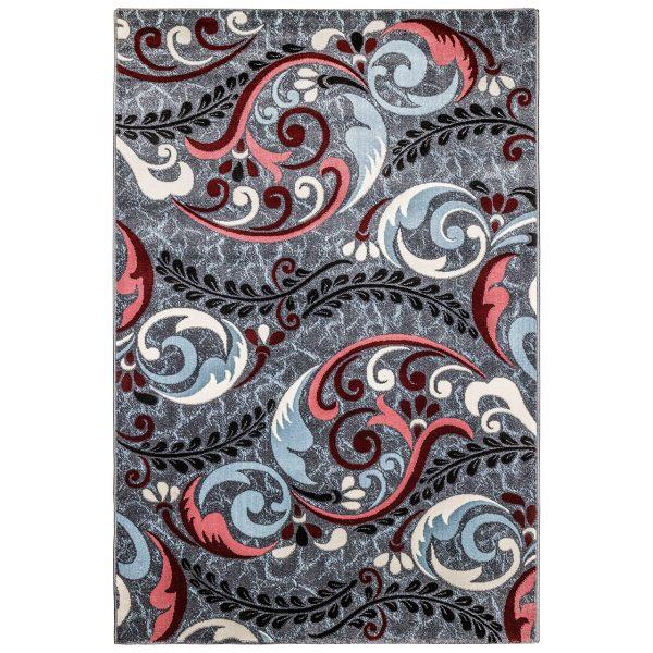 فرش فانتزی زمینه نقره ای SL02