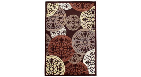 فرش فانتزی زمینه قهوه ای SL08
