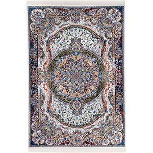 فرش کلاسیک زمینه سرمه ای کد VF15.5K