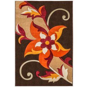 فرش ماشینی سهند کد F020.X7 طرح فانتزی زمینه قهوه ای