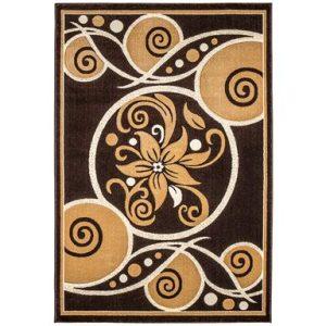 فرش ماشینی سهند کد F060.X7 طرح فانتزی زمینه قهوه ای