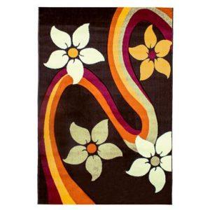 فرش ماشینی سهند کد PI03.X7 طرح فانتزی زمینه قهوه ای