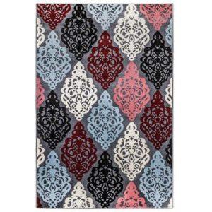 فرش ماشینی سهند کد SL14.US طرح فانتزی زمینه نقره ای