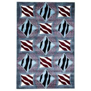 فرش ماشینی سهند کد SL19.US طرح فانتزی رنگ نقره ای