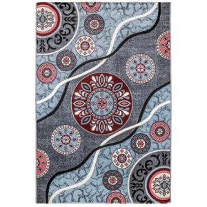 فرش ماشینی سهند طرح فانتزی کد SL21.US زمینه نقره ای