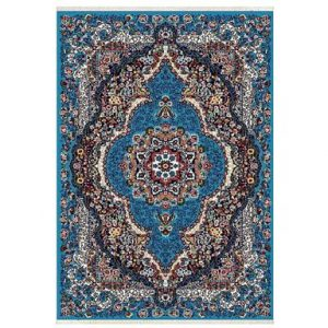 فرش کلاسیک کدUC01QW زمینه آبی