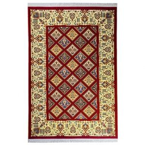 فرش سهند کلاسیک زمینه زرشکی V107.BU