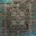 فرش وینتیج رنگ آبی۲